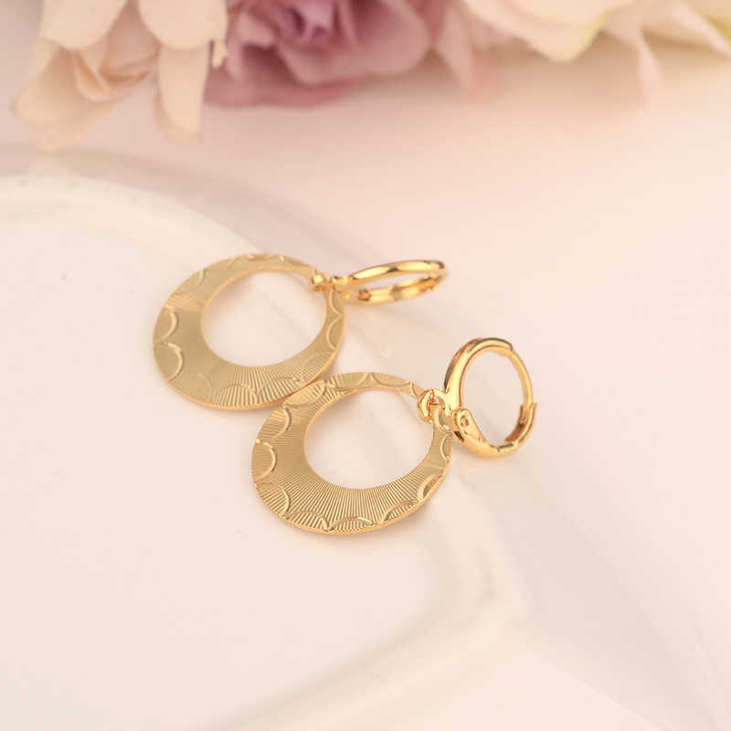Bangrui Earrings for Women Gold Color African drop  Earrings,Wholesale Jewelry of Arabia,Middle East Items