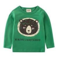Boys Long Sleeve Tops Autumn Clothing Baby Boy Sweatshirts Cute Bear Pattern Children T Shirt Cotton