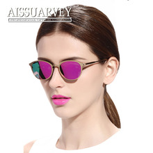 Titanium sunglasses mirror reflection lenses polarized UV400 women driving eyeglasses out door cool fashion brand designer new