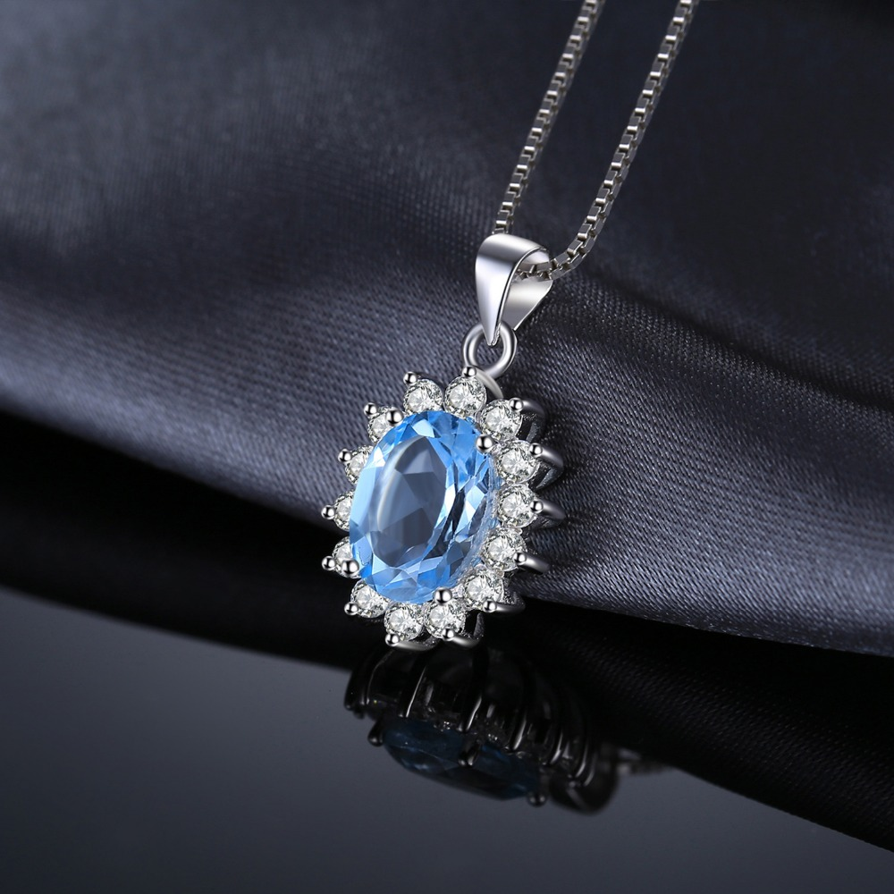 JewelryPalace Princess Diana William Kate 2.3ct Topacio azul natural - Joyas - foto 4