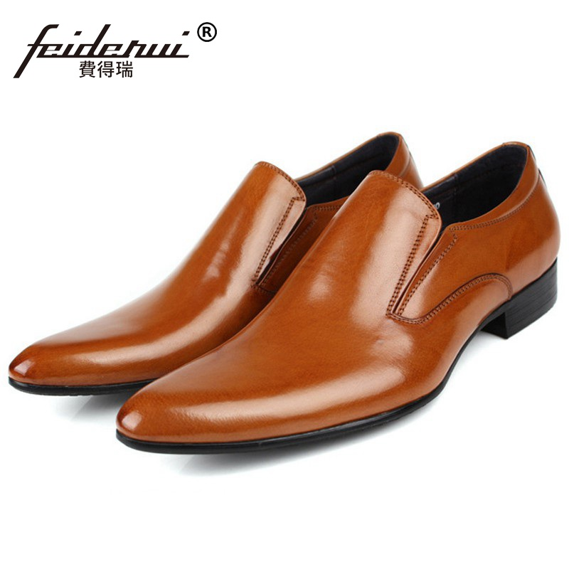 2017 New Arrival Luxury Man Casual Shoes Genuine Leather Loafers Formal Brand Pointed Toe Slip on