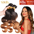 9A Grade Ombre body wave Hair Brazilian Virgin Hair 4pc/Lot 100% Unprocessed Human Hair Extensions 1B/4/30 Ombre Hair Extension