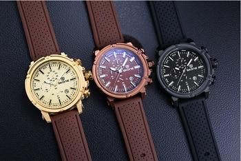 Chronograph Sport Mens Watch Top Brand Luxury Military Quartz For Men 3