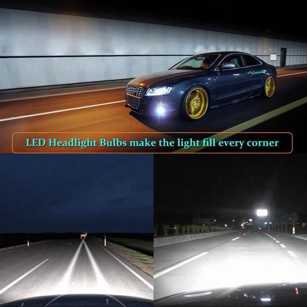 2x  LED Philips Chips 80W 8000LM H4 H7 H11 9005 9006 Headlight Kit H/L Beam Bulbs 6000K For Audi BMW Toyato VW