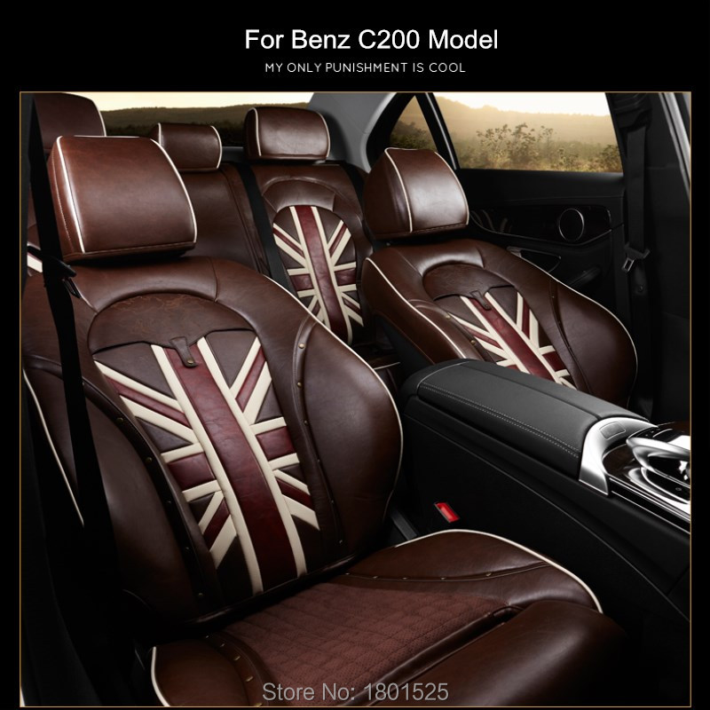 Classic Design leather car seat covers for mercedes-benz amg C S E Class C200L GLA cls CLA 220 GL C260LE 300L four season