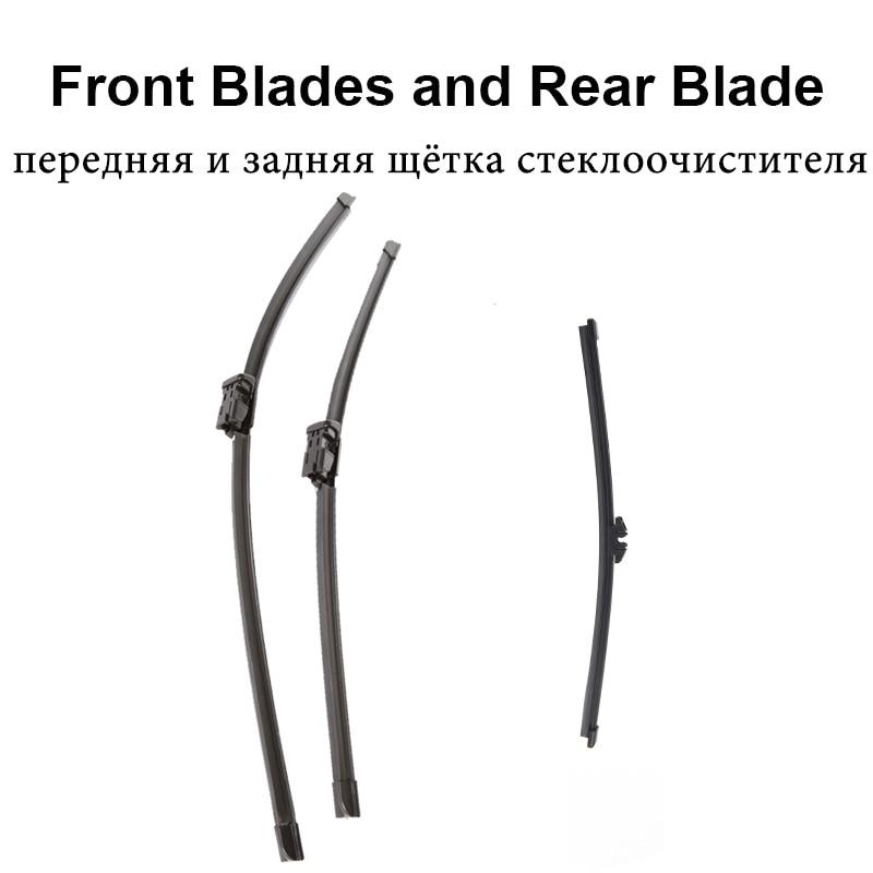 REFRESH Щетки стеклоочистителя для Volvo V40 Fit Push Button Armms 2012 2013 - Цвет: Front and Rear Wiper