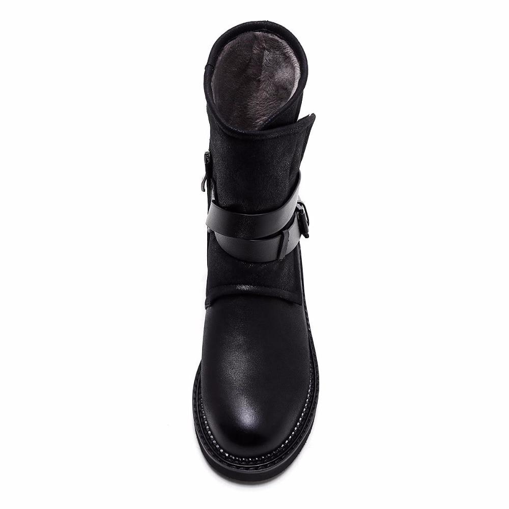 Solide mollet Noir Mi Bout Hiver Pot 2018 Épais Chaud Bottes Rond Mode L31 Femmes Krazing Talon Superstar Casual Moto xqIacU