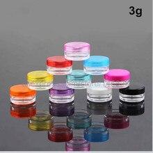 100 шт маленький пластиковый контейнер для косметики баночки для пробников бальзам для губ горшок-3 г