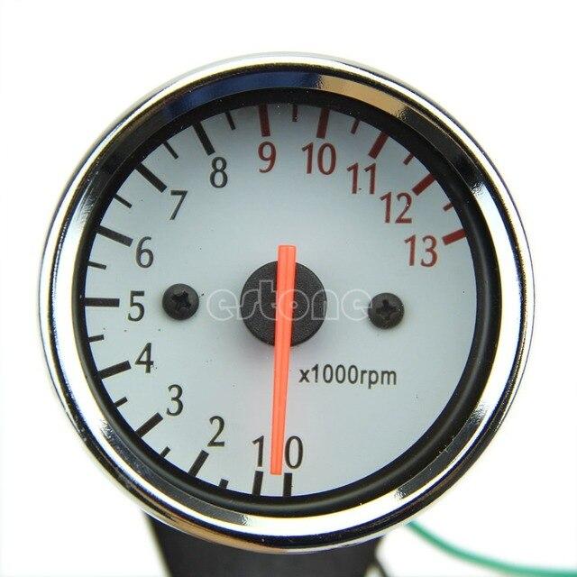 Uniwersalny Tec 13000 RPM Skuter Analogowy Obrotomierz Dla Motocykli