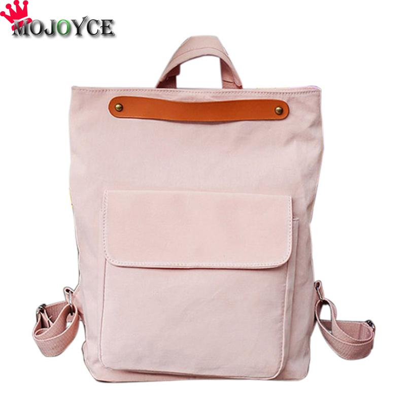 Brand Fashion Women Backpack Shoulder Bag School Bags For Teenager Casual Solid Backpack School Mochila Rucksack