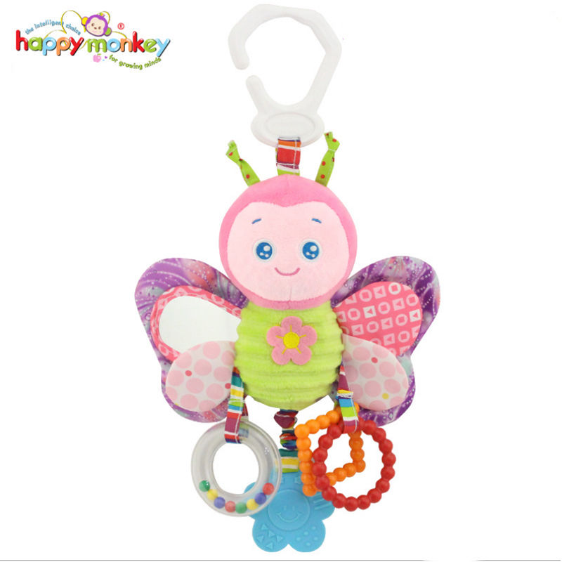 Cute Baby Playpens rattle Toy Plush Multipurpose bed hanging bedside bells baby rattles baby stroller toy