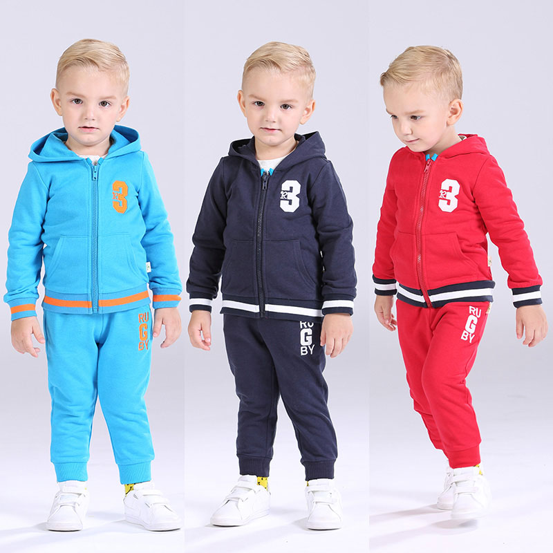 I K Kids Baby Boy Sport Clothing Hooded Fashion Sprot Suits Children Set 2017 Spring Autumn