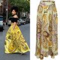 Африканские Платья Хлопок Настоящее Продвижение Африканский Базен Riche Платья Половина 2016 Мода Печати Юбка Высоких Талии Женской Одежды