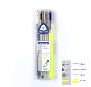Image 5 - Staedtler Triplus boîte noire, crayon mécanique 0.5mm, pointe marqueur Permanent, papeterie