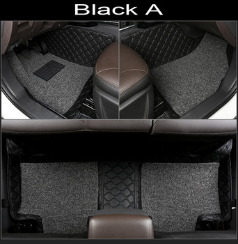Car floor mats made for Toyota Hilux 5D full cover case car-styling carpet rugs PVC leather perfect liners (2004-2015)