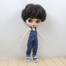 Neo Blythe Doll Denim Jumpsuit Overall Outfit