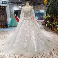 Silver Ball Gowns Wedding Dresses with Cape Boat Neck Corset Lace 3D Flowers Custom Made Real Photos Puffy Bridal Gowns 2019