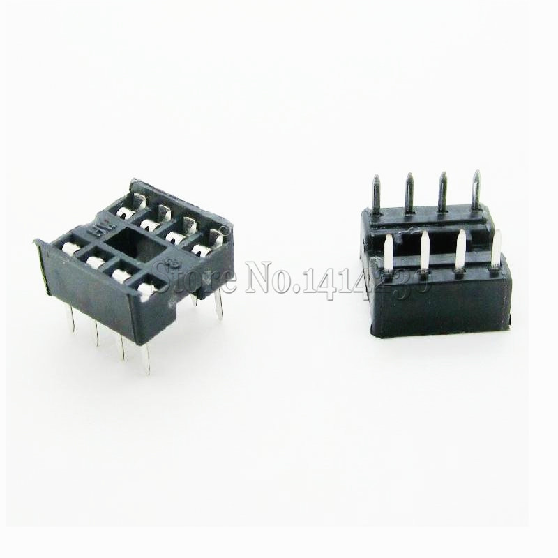 10Pcs 8pin DIP IC Sockets Adaptor Solder Type 8 Pin DIP-8