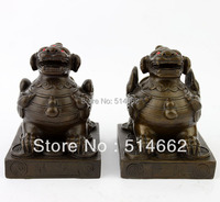 Fengshui Pair of Brass Pi Yao Sculptures For Wealth/Pi Xie/pi xiu STATUES FIGURINE