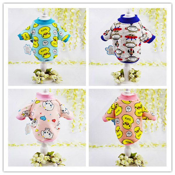 1pcs pet dog cat fashion hoodies clothing doggy lovely printes vest apparel puppy sweaters clothes dogs cats suit costume XS-XL