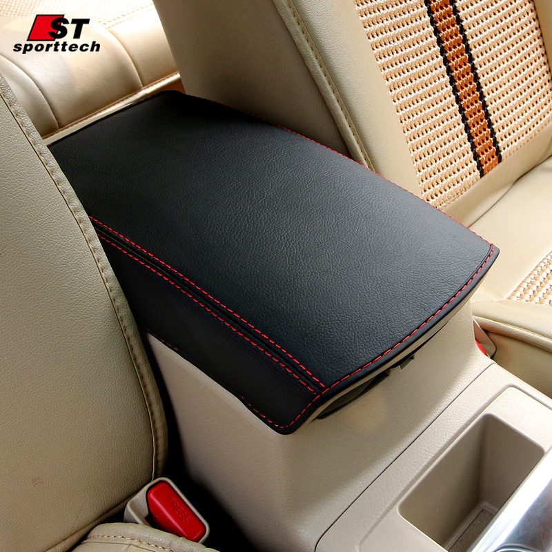 Car Central armrest box 3D design Artificial Leather cover accessories  for Nissan X-Trail X Trail  2014--2019 Car-styling