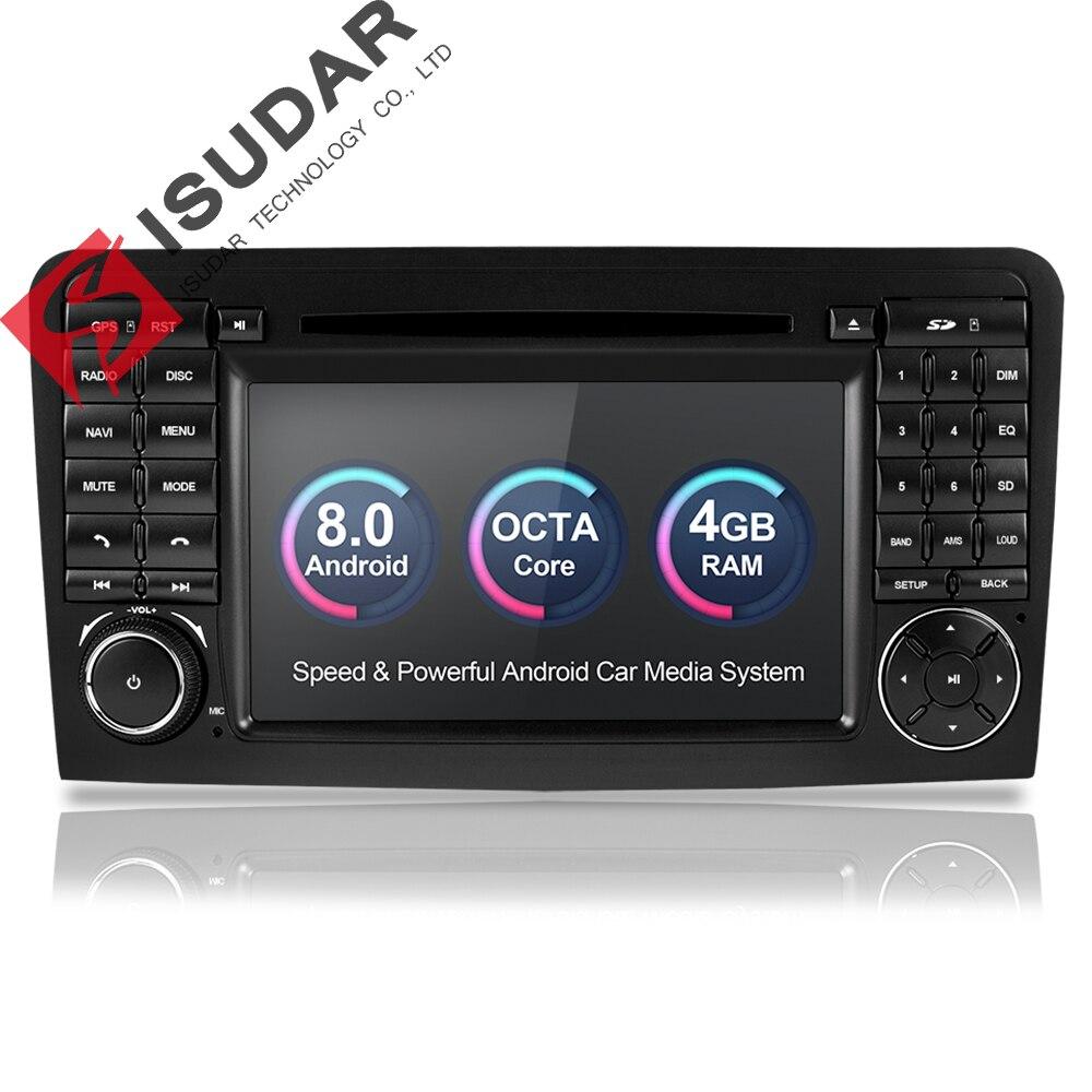 Isudar lecteur multimédia De Voiture GPS Android 8.0 2 Din Pour Mercedes/Benz/GL ML CLASSE W164 ML350 4 GB RAM DSP Radio Microphone Wifi