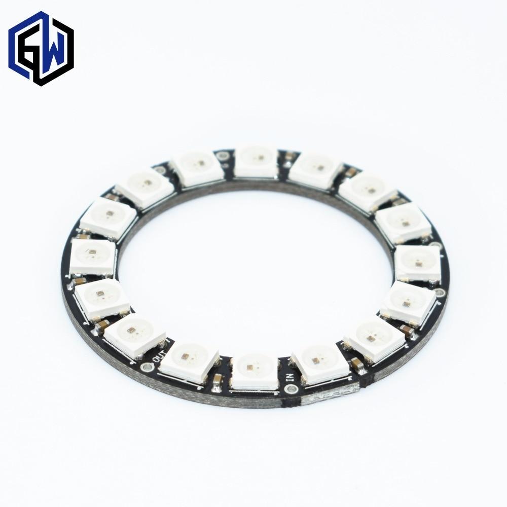 WS2812 module 8 Bit/12 Bit/16 Bit/ 64 Bit 5050 RGB LED full-color built-in driving lights Round LED Ring board Electronic DIY