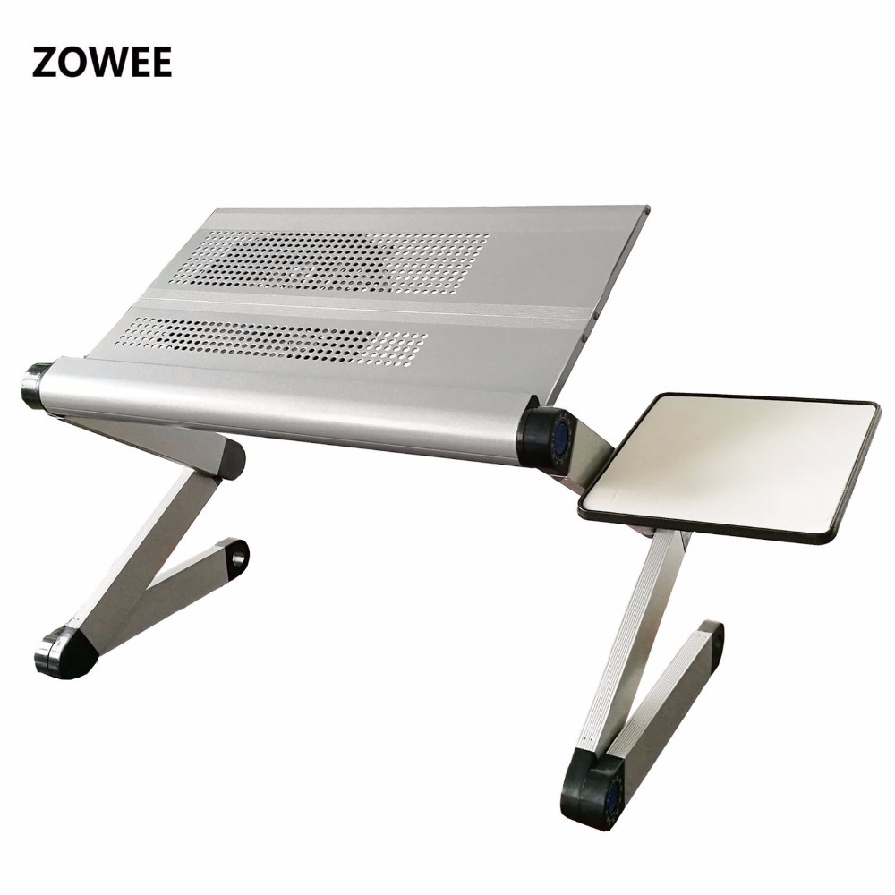 Adjustable Portable Laptop Table Stand Lap Sofa Bed Tray Computer - Furniture - Photo 2