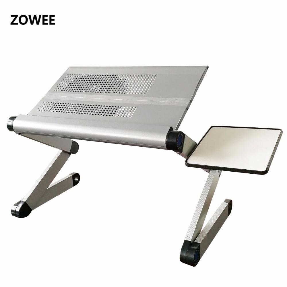 Laras meja komputer riba yang boleh laras pendirian meja sofa dengan - Perabot - Foto 2