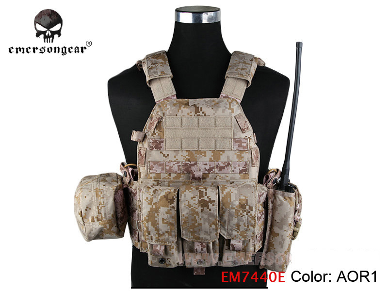 Emerson LBT6094A Style Vest with Pouches Airsoft Painball Military Army Combat Gear Cordura Coyote Brown Outdoor Hunting Vest $
