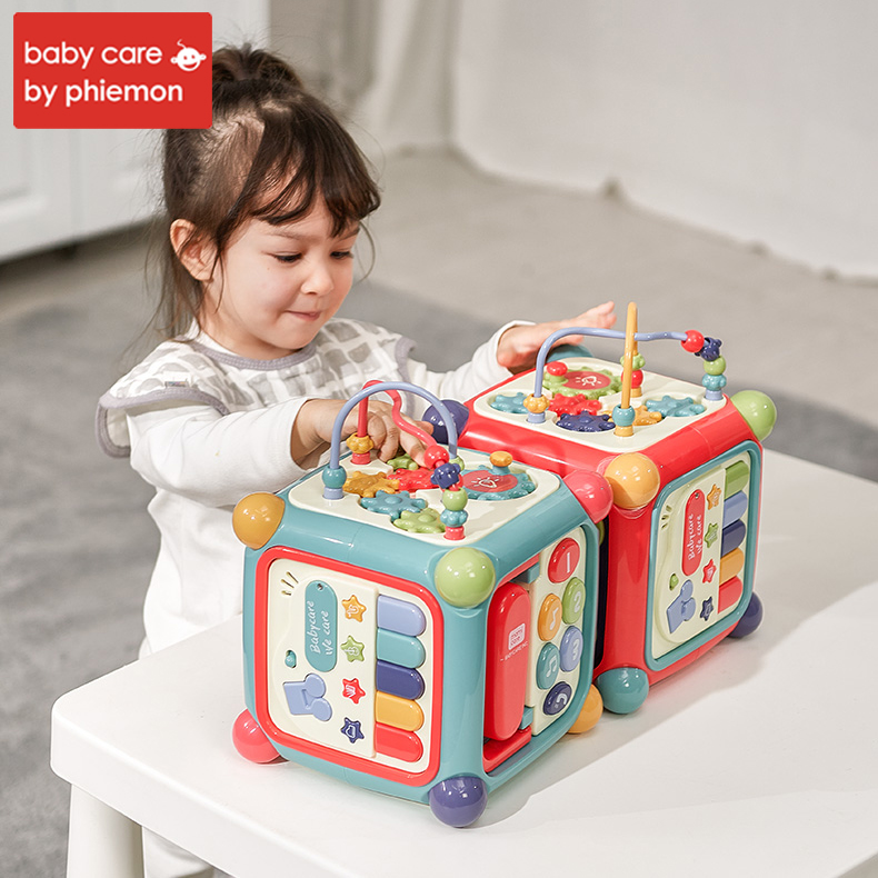 Babycare bébé activité boîte enfant en bas âge multifonctionnel jouet Musical magique Cube horloge blocs géométriques tri jouets éducatifs