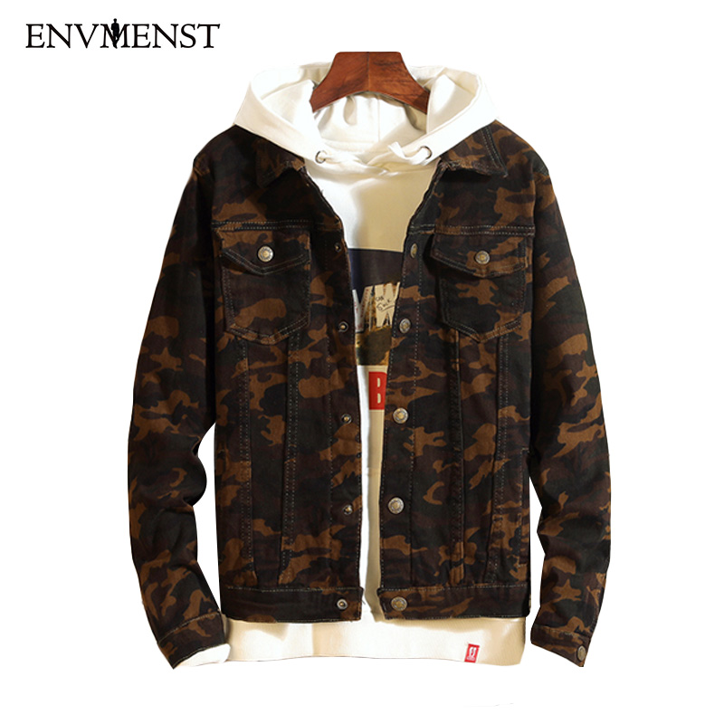 info for 9a3ca e1486 US $26.32 10% OFF|Envmenst Mens Denim Jacket Camouflage Casual Slim Fit  Jacket Men Autumn Winter Jean Jacket Mens Cowboy Coats With Front  Pockets-in ...