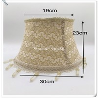 E27 Lampshae for table lamp flower Pattern lace Textile Fabrics Decorative gold color with crastry lampshade for tablelamp