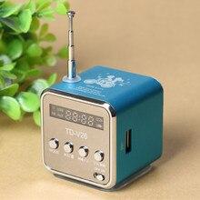 TD-V26 Mini Speaker Portable Digital LCD Sound Micro SD/TF FM Radio Speaker Music Stereo Loudspeaker for Laptop Phone