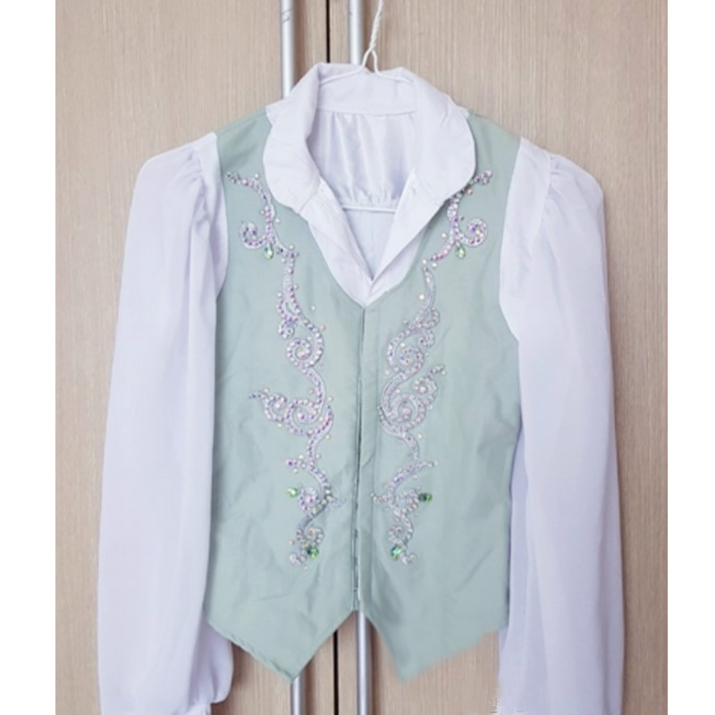 boy ballet top vest mens ballet outwear male ballet jacket Spanish ballet stage <font><b>dance</b></font> costume drop ship image