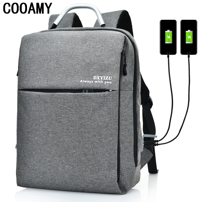 Man Laptop Backpack School Bag For Notebook Business Laptop Computer Bag with USB Charger New Travel Shoulder Bag For Women one2 2017 new design flamingo vintage school bag women bag men s laptop backpack for computer university students boys man