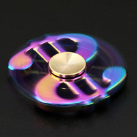 MUQGEW Tri Spinner Money Style Fidget Hand Spinner Camouflage Multi Color EDC Focus Toys Games For