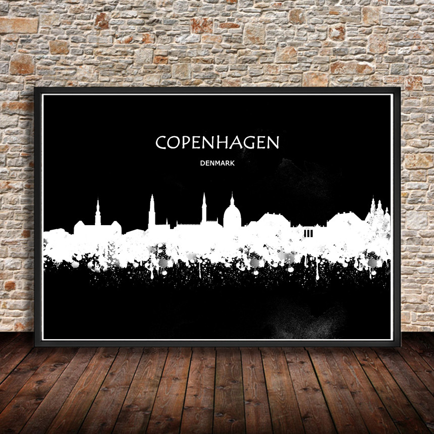 Modern Watercolor Painting Abstract City BERLIN Germany Print Poster Wall Sticker Living Room Cafe Bar Home Decor Pub In Stickers From