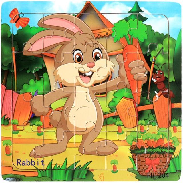 Drewniane puzzle zabawki Edukacyjne Rozwojowa Dziecko Szkolenia Dla Dzieci zabawki dla dzieci zwierząt puzzle Układanki Puzzle Jouet Enfant #520 - aliexpress