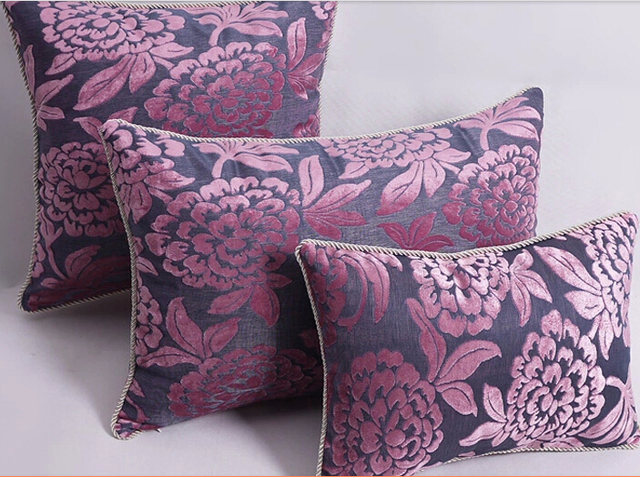 Violet mode Ofhead Rectangle gros coussin