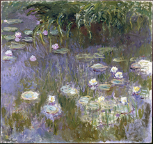 Home Wall Decoration Painting Reproduction Claude Monet White Water Lilies Canvas Art Photo Printed Oil