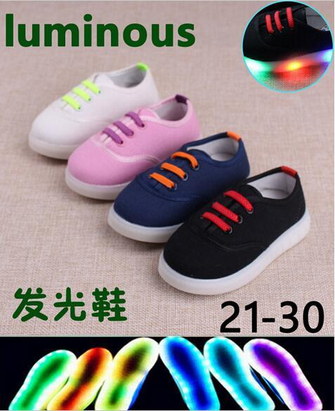 European 2016 fashion lighted girls boys shoes high quality Cool comfortable baby sneakers Elegant cute kids shoes