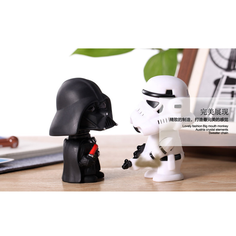 Image 2 - 11cm Star Wars Figure Action Darth Vader Action Figure Toy Bobble Head Star Wars Figures For Children Kids Toys-in Action & Toy Figures from Toys & Hobbies