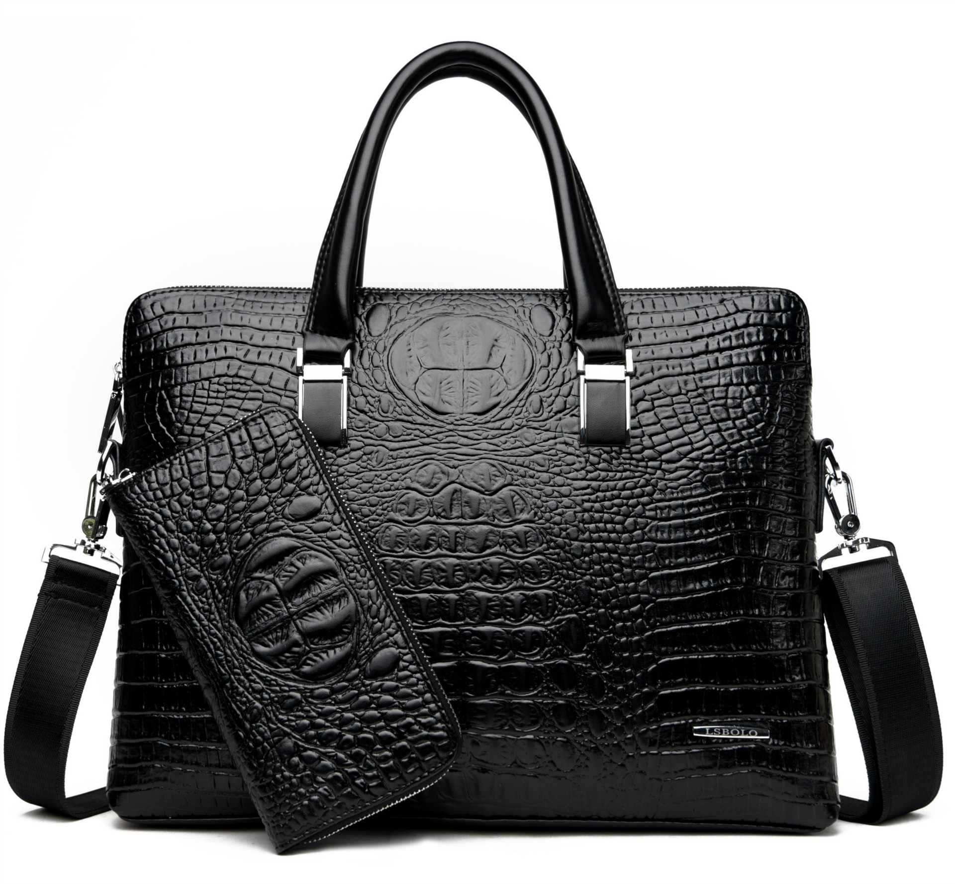 Men's Briefcase Computer-Bag Business Tote Casual Luxury New Boy Male Fashion Alligator