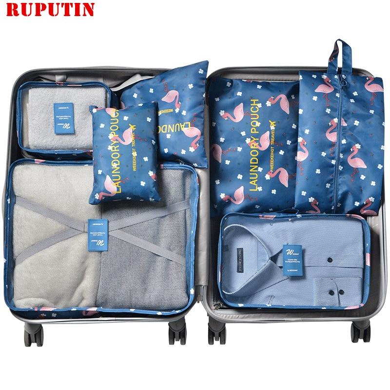 RUPUTIN 7Pcs/set Travel Organizer Suitcase Clothes