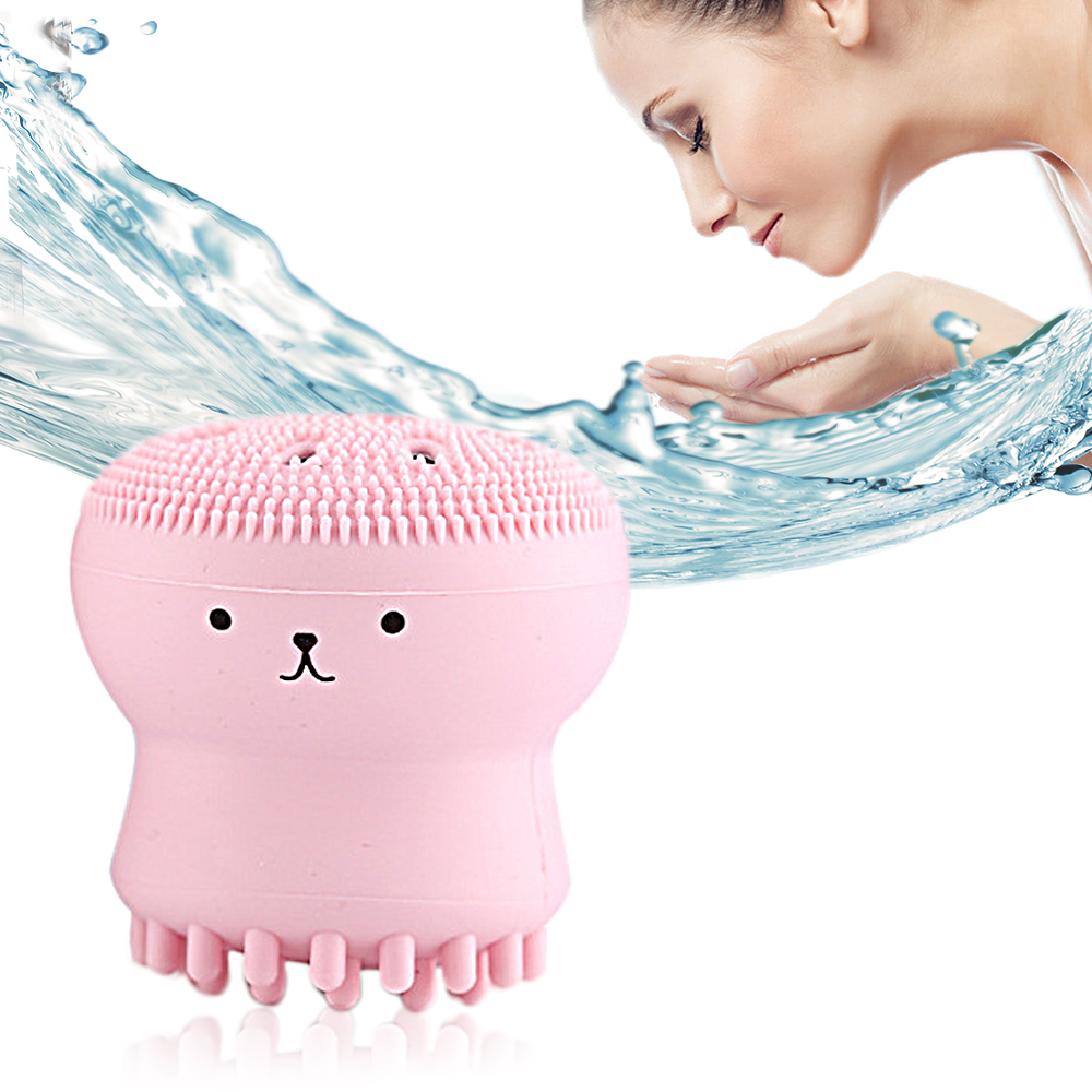 Octopus Design Facial Cleansing Brush Silicone Massager And