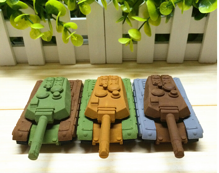 New Arrival Freeshipping Random Color Heavy Armor Tank Eraser Military Eraser Collection With School Eraser For Promotion