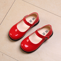 Party Girls Shoes Children Kids Dress Girl Princess Red Leather Shoe Spring Autumn Size 21 36