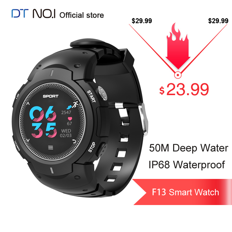 NO.1 F13 IP68 50M Waterproof Multi-sports Mode Heart Rate Monitor Remote Camera Smart Watch Smartwatch Bracelet Fitness Tracker image