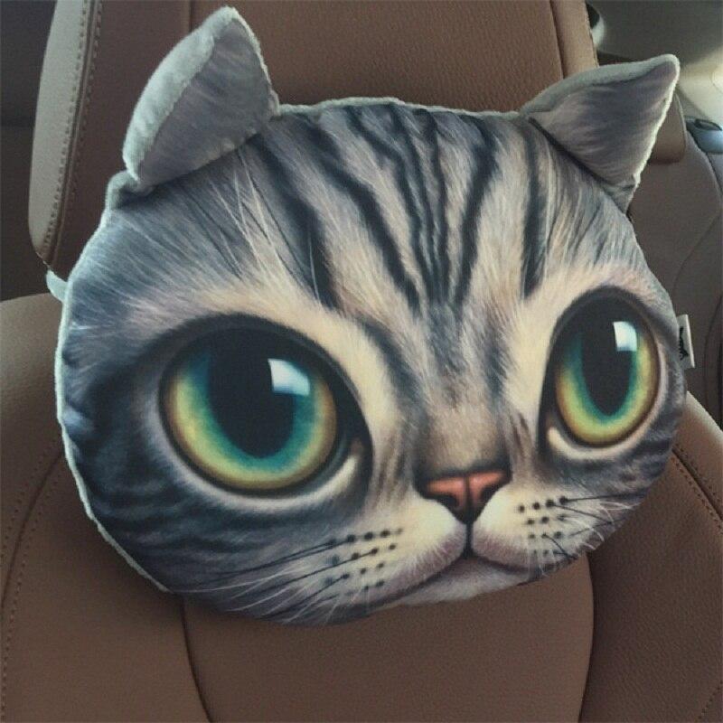 ᐂNuevo coche reposacabezas de dibujos animados perro y gato